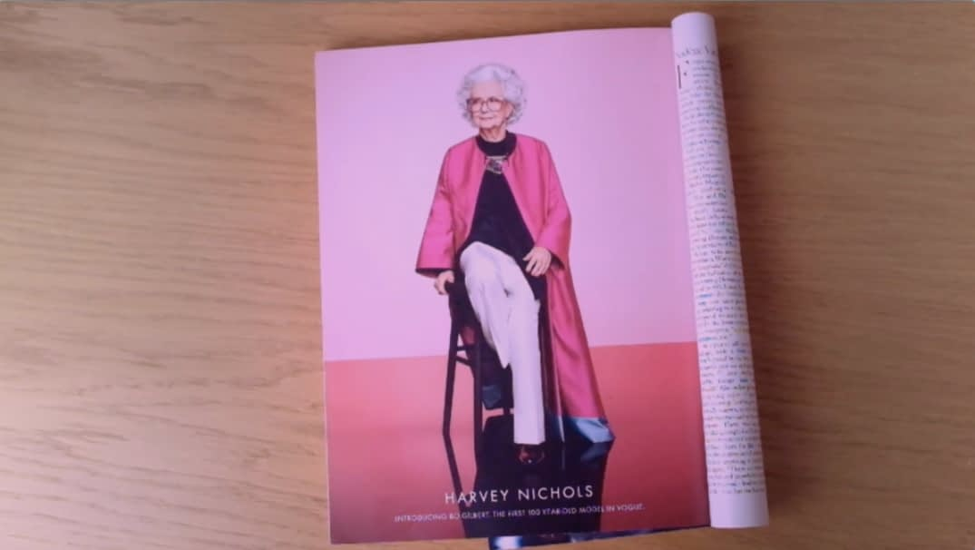 Vogue's 100 year-old model