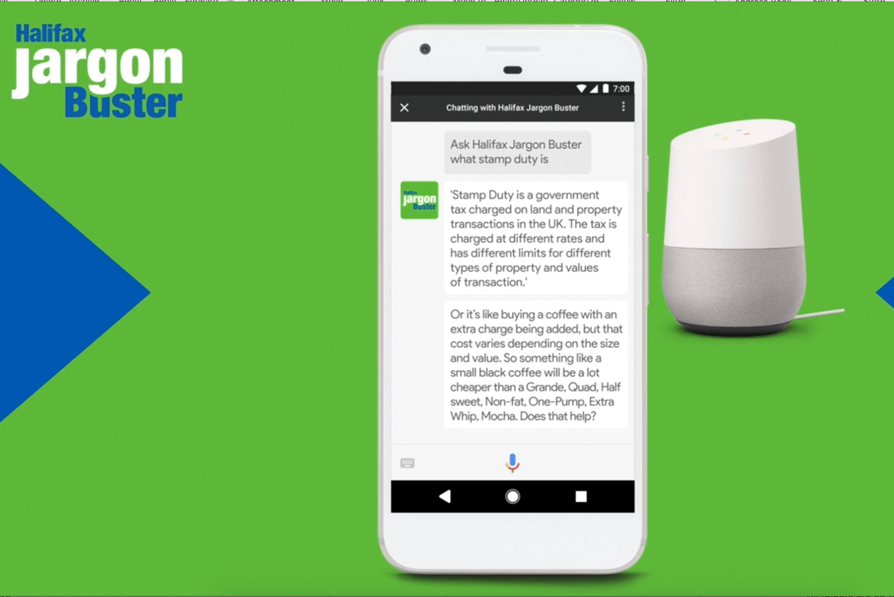 Halifax Jargon Buster for Google Assistant