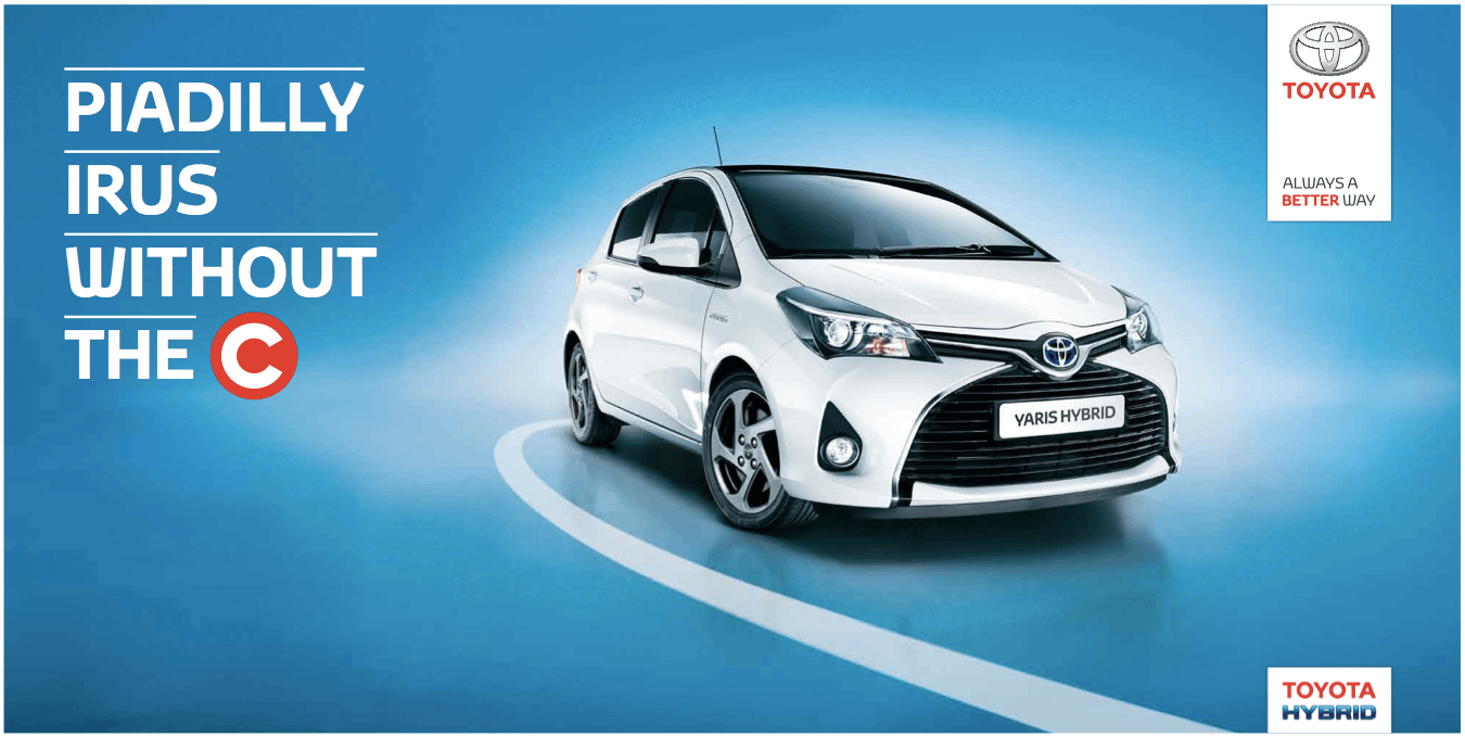 Toyota Hybrid – London Congestion Charge Posters
